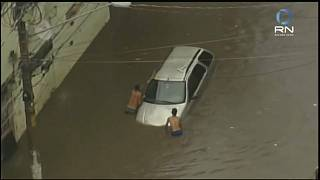 Fortes chuvas provocam cheias em São Paulo