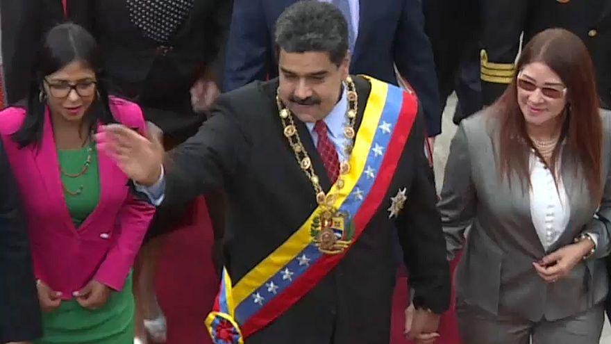 Tensa víspera del inicio del segundo mandato de Nicolás Maduro en Venezuela