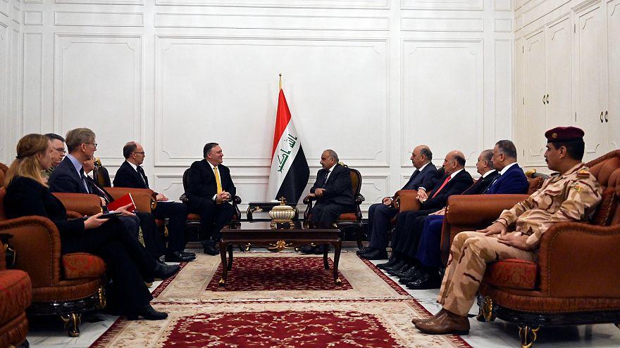 بومبيو إلتقى بالقوات الأمريكية وزعماء عراقيين خلال زيارة للعراق