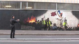 """Streetart-Künstler PBOY: """"Die Freiheit führt das Volk"""" im Zeitalter der Gelbwesten"""