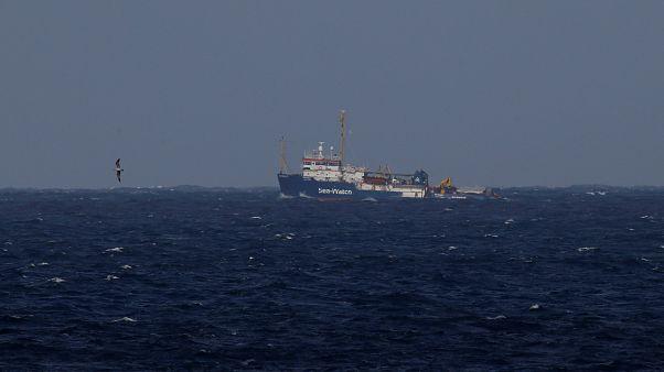 Спасательное судно Sea-Watch 3 у берегов Мальты