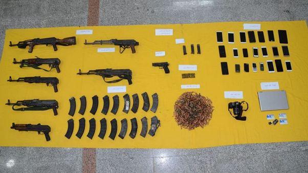 تسلیحات ضبط شده در منطقه قطیف