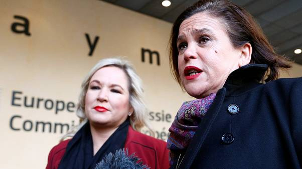 Sinn Fein leaders hold news conference after talks in Brussels
