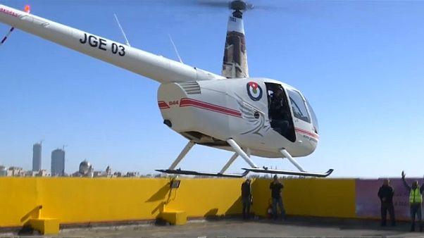 شاهد: خدمة التكسي الطائر في الأردن بـ 77 دولارا للرحلة الواحدة