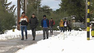 Fáznak a menekültek a Görögországban