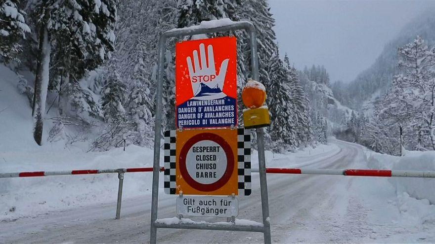 Áustria em alerta de avalanche