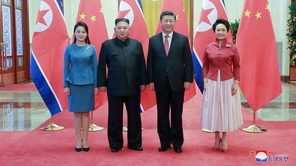 دیدار شی جینپینگ و کیم جونگ اون، سران چین و کره شمالی در پکن