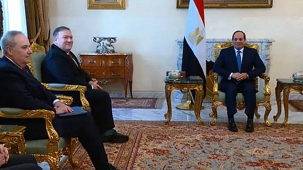 بومبيو يلتقي الرئيس المصري ضمن جولته في الشرق الأوسط