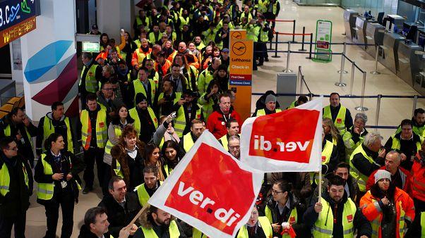 شاهد: إضرابٌ في مطارات ألمانية وإلغاءُ أكثر من 600 رحلة