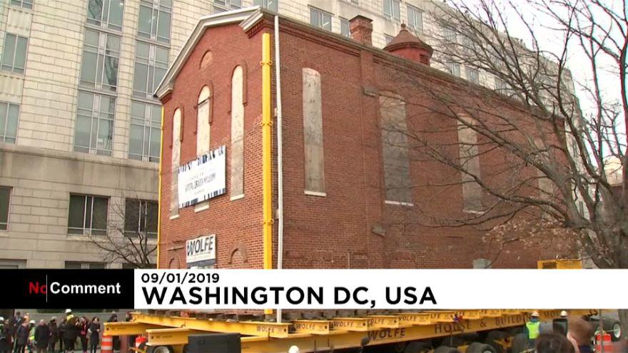 قدیمیترین کنیسه واشنگتن جابجا شد