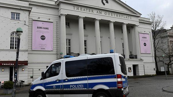 Der Tatort am Theater auf dem Bremer Goetheplatz.