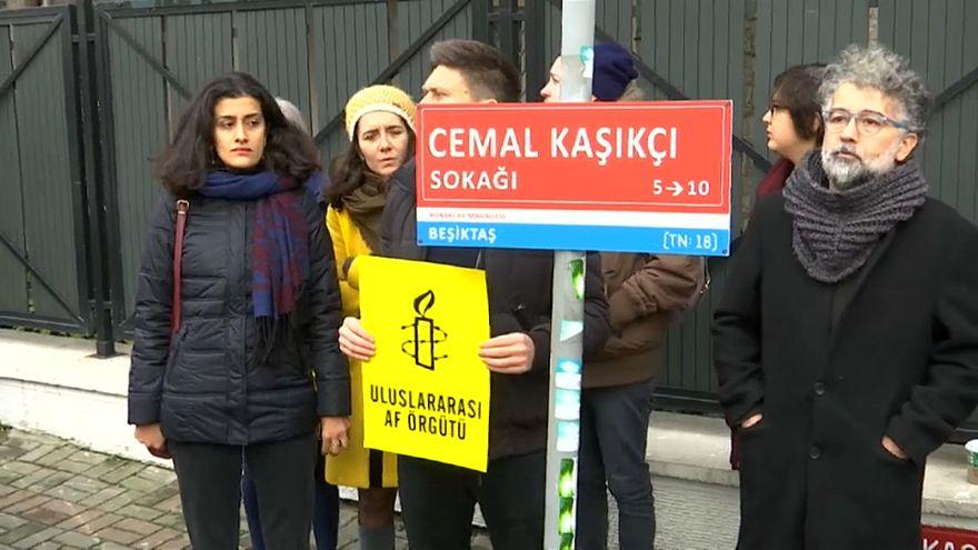 شاهد: العفو الدولية تحيي ذكرى 100 يوم على مقتل خاشقجي في تركيا