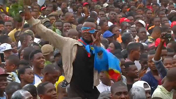 Tshisekedi supporters celebrate election victory in Kinshasa