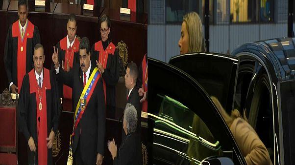 Venezuela: Präsident Maduro vereidigt, EU bedauert