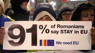 Romania's presidency debuts with demos