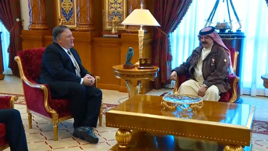 بومبيو يصل المنامة ويجتمع مع الملك حمد بن عيسى آل خليفة