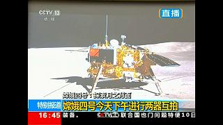 Видео с обратной стороны Луны