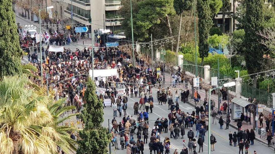 Αθήνα: Ένταση στην πορεία των εκπαιδευτικών