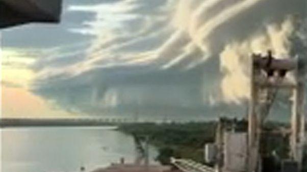 Tarajos felhő Argentína egén