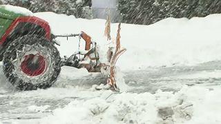 «Πνιγμένη» στο χιόνι η Αυστρία