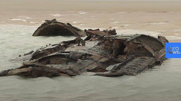 El submarino alemán de la I Guerra Mundial que aparece y desaparece de una playa francesa