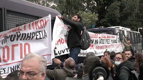 Athen : Tränengas gegen Lehrer-Demo