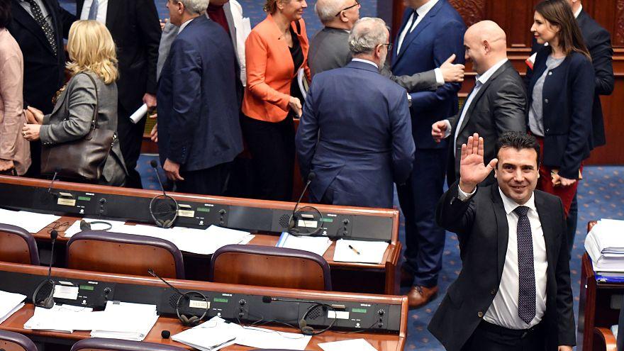 برلمان مقدونيا يصادق على تعديل دستوري يقضي بتغيير اسم البلاد إلى جمهورية شمال مقدونيا