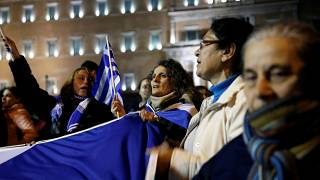 """""""Makedonya"""" Anlaşması Yunan Parlamentosu'nda; Atina sokakları gergin"""