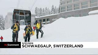 Three injured after avalanche hits hotel in Swiss resort
