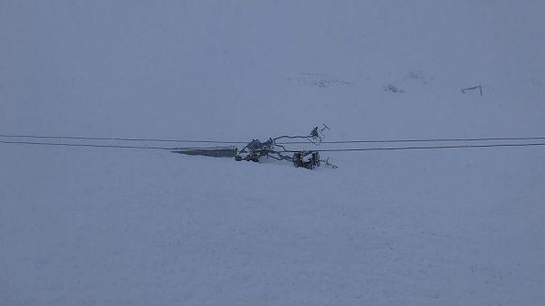 Έκλεισε το χιονοδρομικό Καλαβρύτων λόγω χιονοστιβάδας