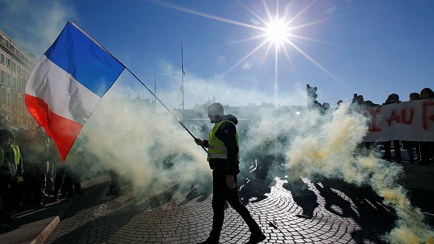 Thousands flood French streets in ninth week of 'gilets jaunes' protests