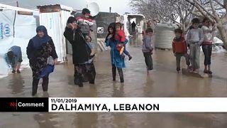 Πρόσφυγες στο έλεος της κακοκαιρίας