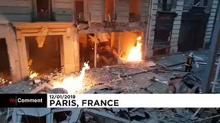 Tres muertos en una violenta explosión de gas en el centro de París