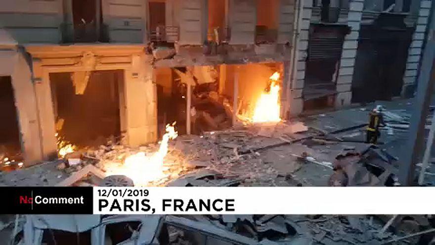 Video | Paris'teki patlama kameralarda