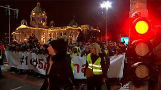 Sexto fin de semana de protestas antigubernamentales en Serbia