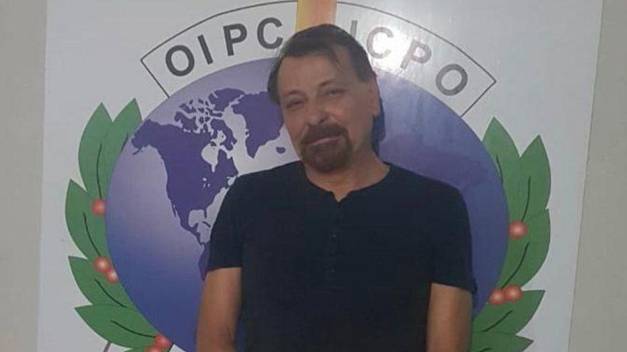 Cesare Battisti after his arrest in Bolivia in January 2019.