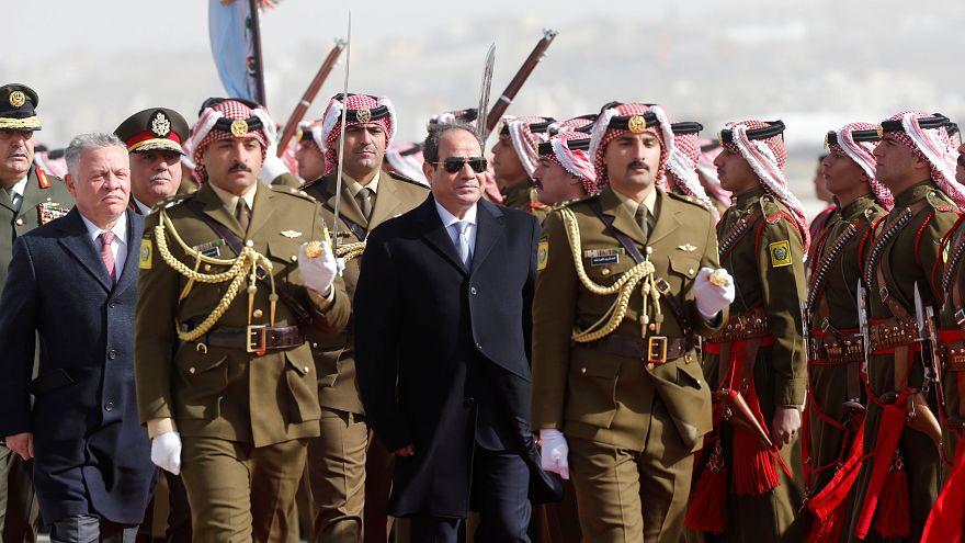 عبدالله الثاني يستقبل السيسي في عمّان والملف الفلسطيني أولى القضايا