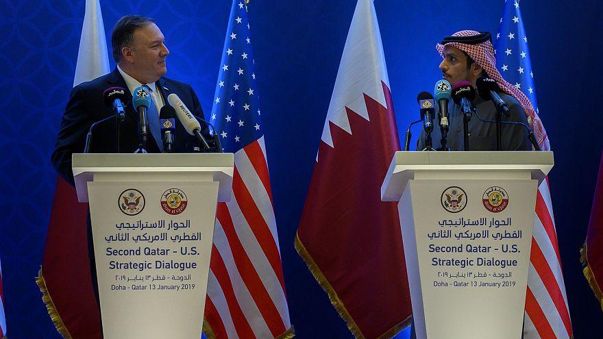 ABD Dışişleri Bakanı Mike Pompeo / Katar Dışişleri Bakanı Muhammed el Sani