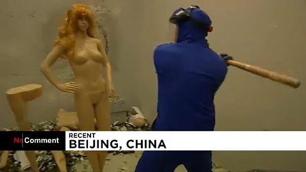"""À Pékin, un """"défouloir de colère"""""""