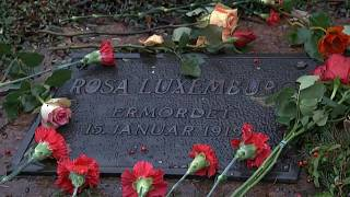 La izquierda alemana conmemora el centenario del asesinato de Rosa Luxemburgo