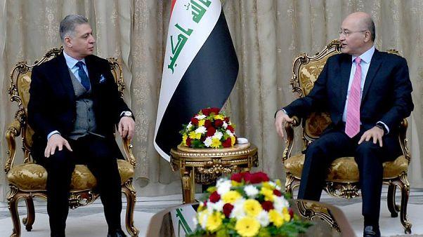 Irak Türkmen Cephesi Başkanı Erşet Salihi, Irak Cumhurbaşkanı Berhem Salih