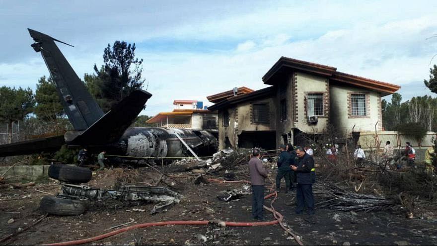 Video | İran'da uçak kazasında 15 kişi öldü: Enkazdan ilk görüntüler
