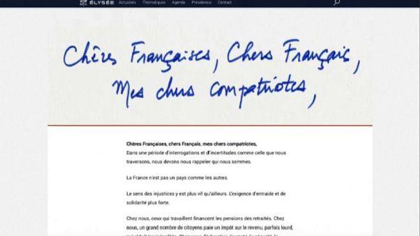 Macron scrive ai francesi e apre a dibattito nazionale