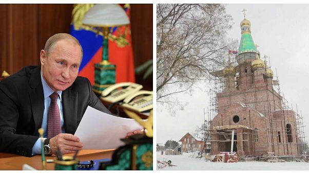 "В Сербии строят ""церковь Путина"""