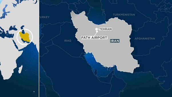 Egy iráni katonai gép zuhant le Teheránnál