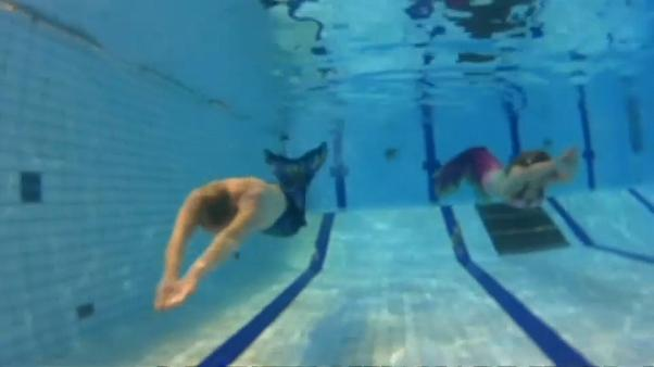 Flippin' brilliant: the Finns learning to be mermaids