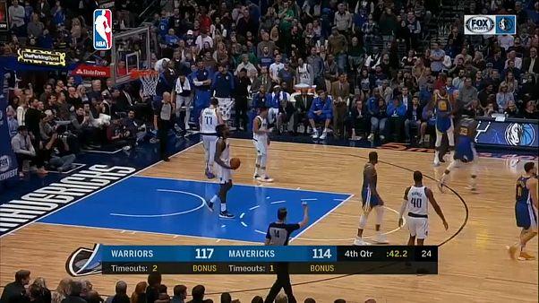 Lección de Curry y triunfo para los Warriors ante los Mavericks en la NBA