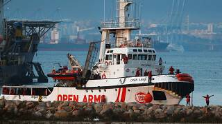 NGO Proactiva Open Arms' rescue boat