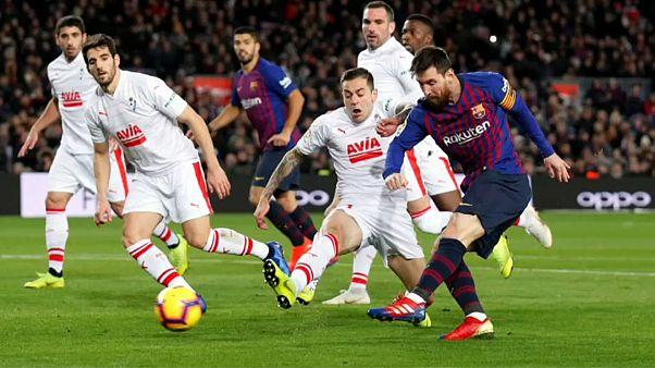 Messi hace historia con su gol número 400 en la liga española de fútbol