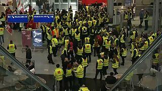 Budapesti járatokat is érint a német repülőtéri dolgozók keddi sztrájkja